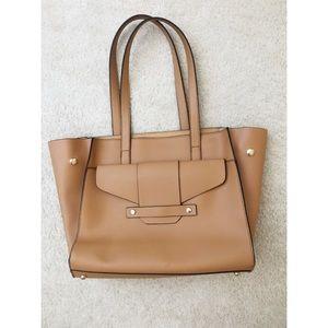 NWOT tan faux leather purse